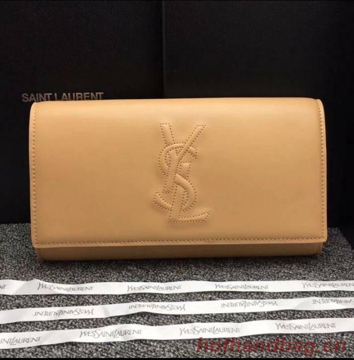 Yves Saint Laurent Original Leather Sac Be Du Jour Clutch Bag 26752 Beige