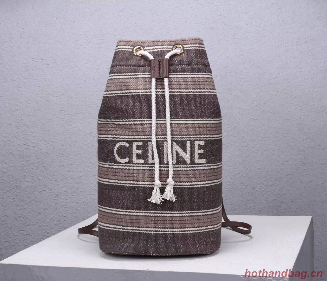 CELINE Canvas Shoulder Bag CL92173 Gray