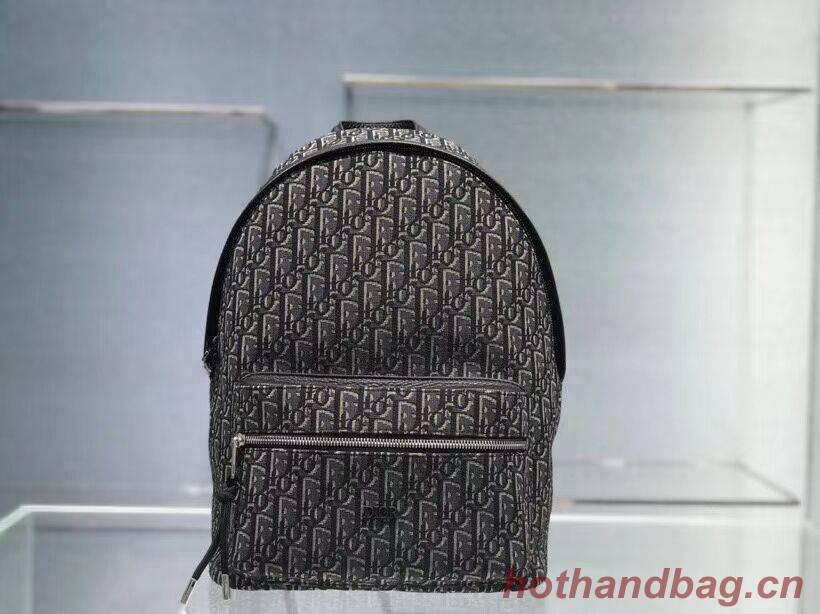 Dior original canvas knapsack CR2021 grey