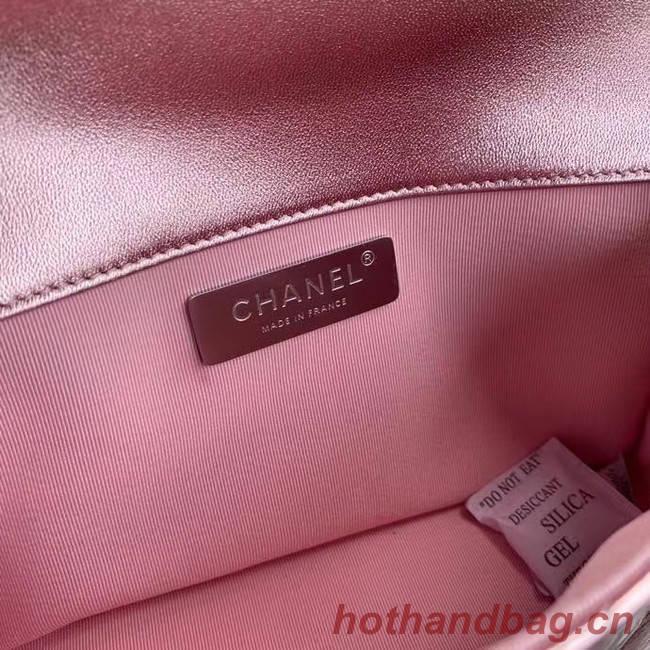 Chanel Flap Original Lambskin Leather Shoulder Bag AS1665 silver pink