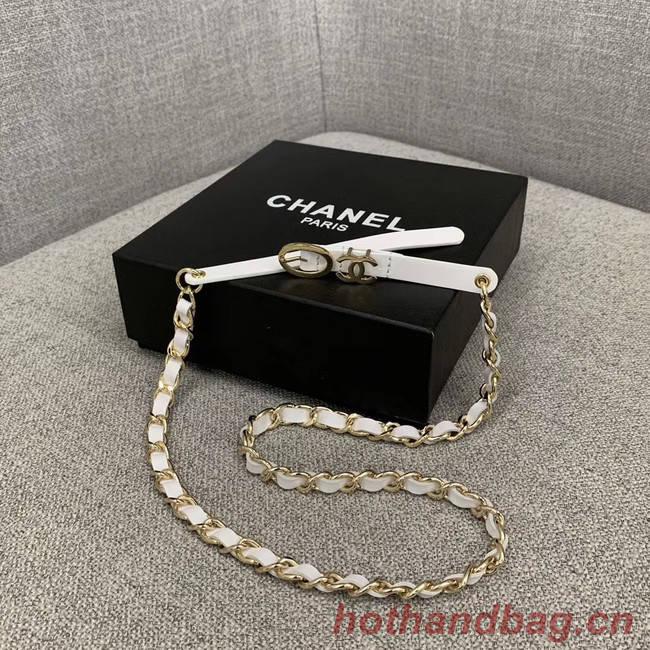Chanel Original Calf Leather 2.0CM 3600 white