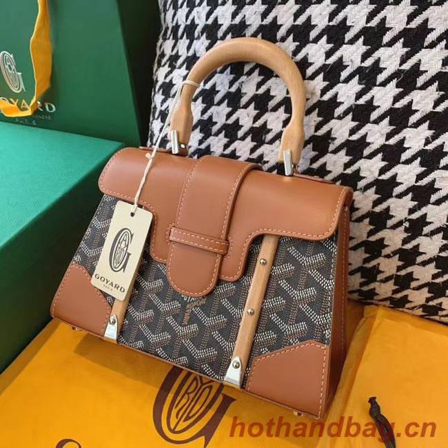 Goyard mini saigon tote bag 55632 brown