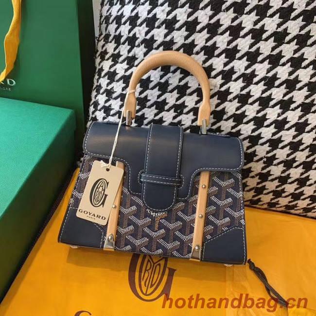 Goyard mini saigon tote bag 55632 dark blue