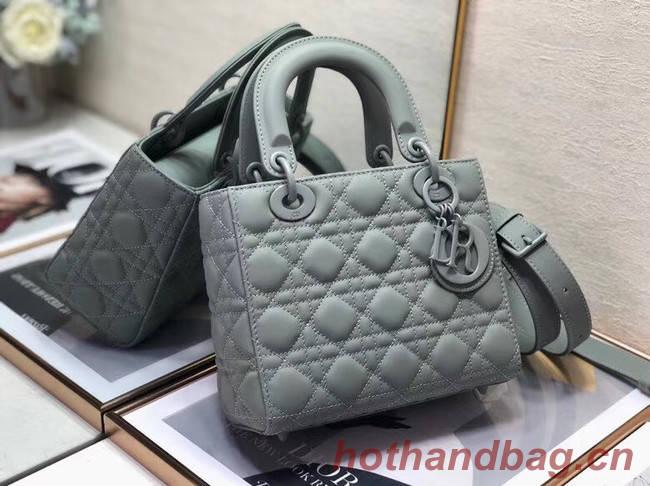 Dior Lady Dior Bag Original Sheepskin Leather CD5501 grey
