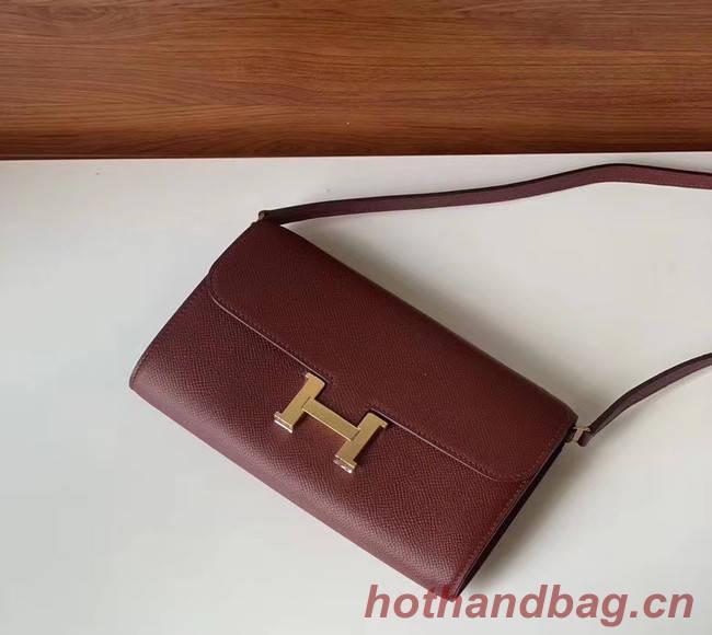 Hermes Constance to go mini Bag H4088 Burgundy