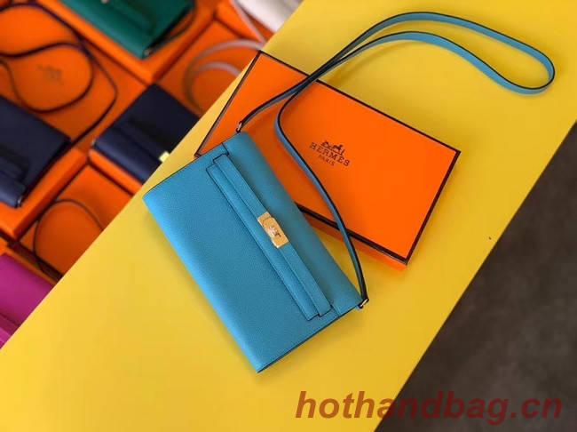 Hermes Original kelly espom leather to go woc Bag H4087 blue