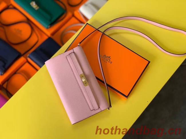 Hermes Original kelly espom leather to go woc Bag H4087 light pink