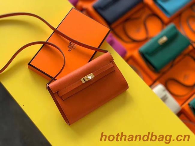 Hermes Original kelly espom leather to go woc Bag H4087 orange
