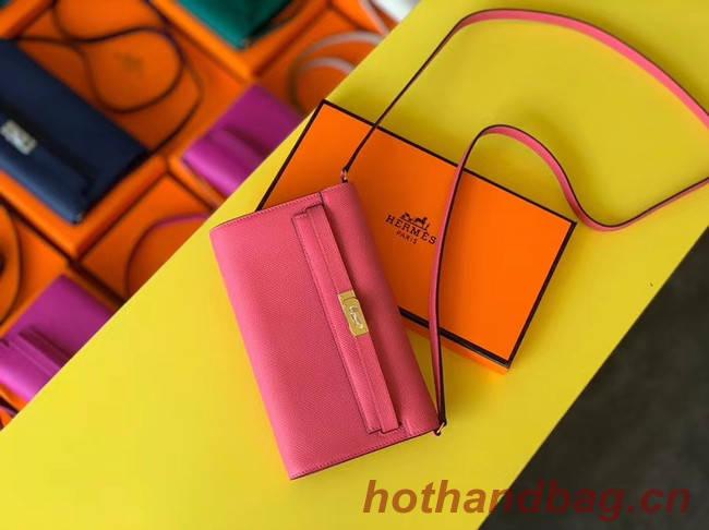 Hermes Original kelly espom leather to go woc Bag H4087 rose