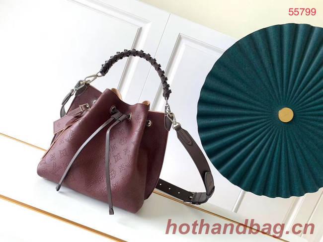 Louis Vuitton MURIA Mahina perforated calf leather M55800 Burgundy