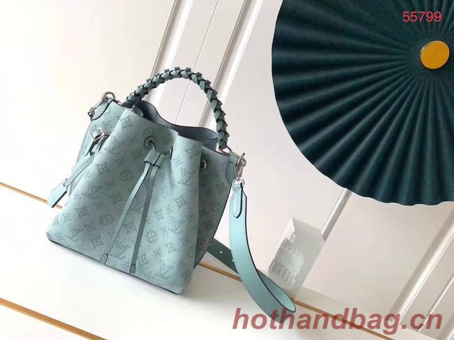 Louis Vuitton MURIA Mahina perforated calf leather M55800 sky blue
