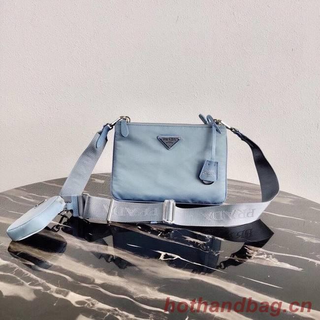 Prada Nylon Re-Edition 2000 Shoulder Bag 1BH046 light blue