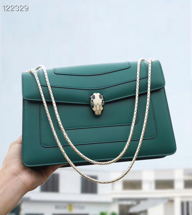 Bvlgari Serpenti Forever leather crossbody bag 20288 Emerald