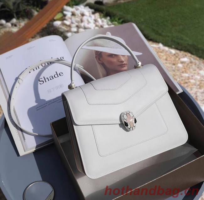 Bvlgari Serpenti Forever leather small crossbody bag 20286 white
