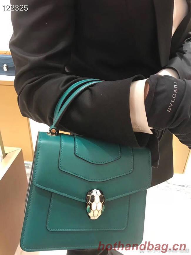 Bvlgari Serpenti Forever leather small crossbody bag 20289 Emerald