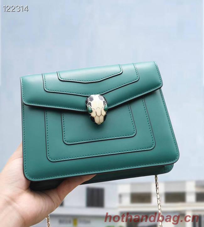 Bvlgari Serpenti Forever leather small crossbody bag 20291 Emerald