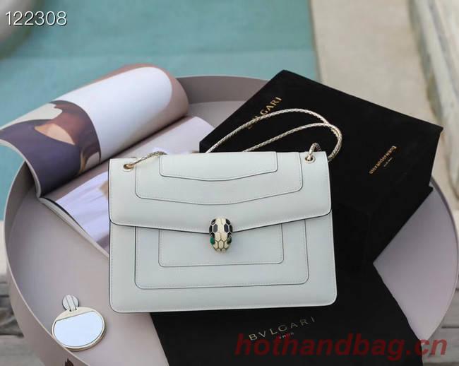 Bvlgari Serpenti Forever leather small crossbody bag 20291 white