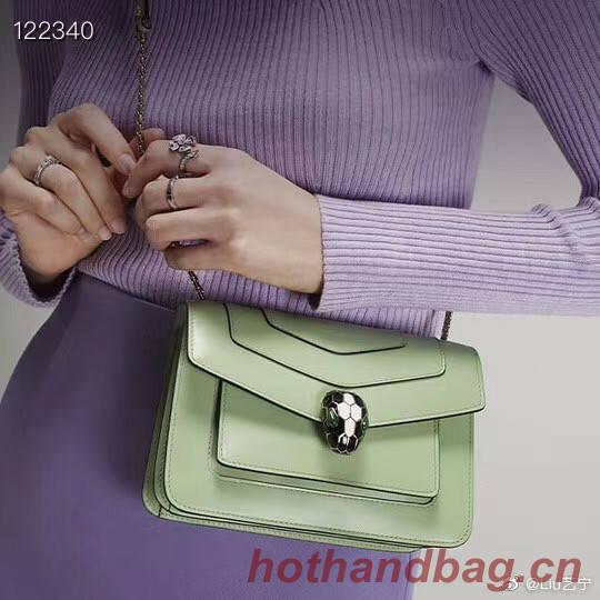 Bvlgari Serpenti Forever leather small crossbody bag 29286 green