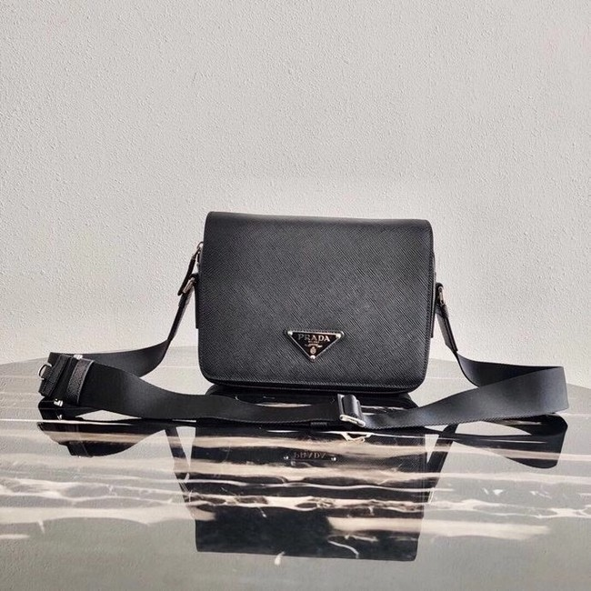 Prada Saffiano leather shoulder bag 2VD038 black