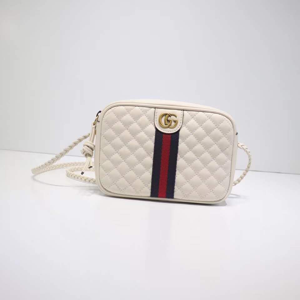 Gucci Laminated leather small shoulder bag 51060 white