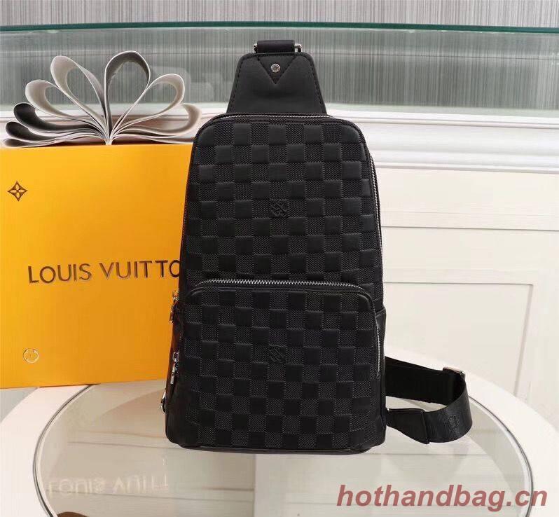 Louis Vuitton AVENUE SLING Original Leather Bag N41719 Black