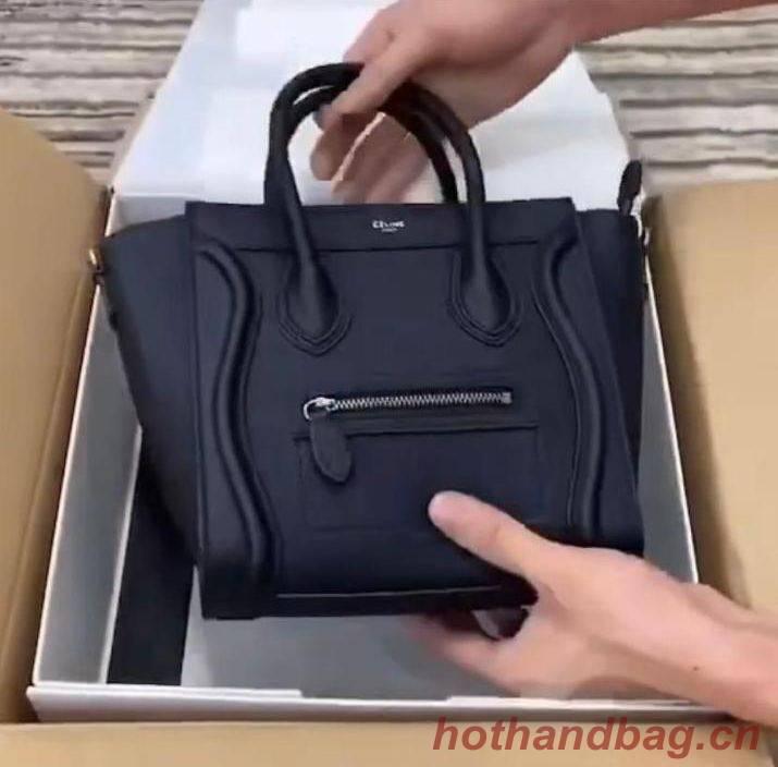 Celine Luggage Original Leather Mini Tote Bag 88022 Black
