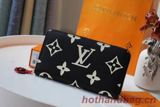 Louis Vuitton Original ZIPPY wallet M69698 black