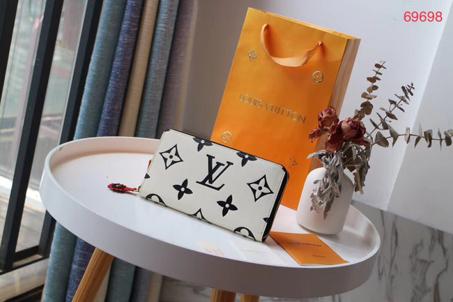 Louis Vuitton Original ZIPPY wallet M69698 white