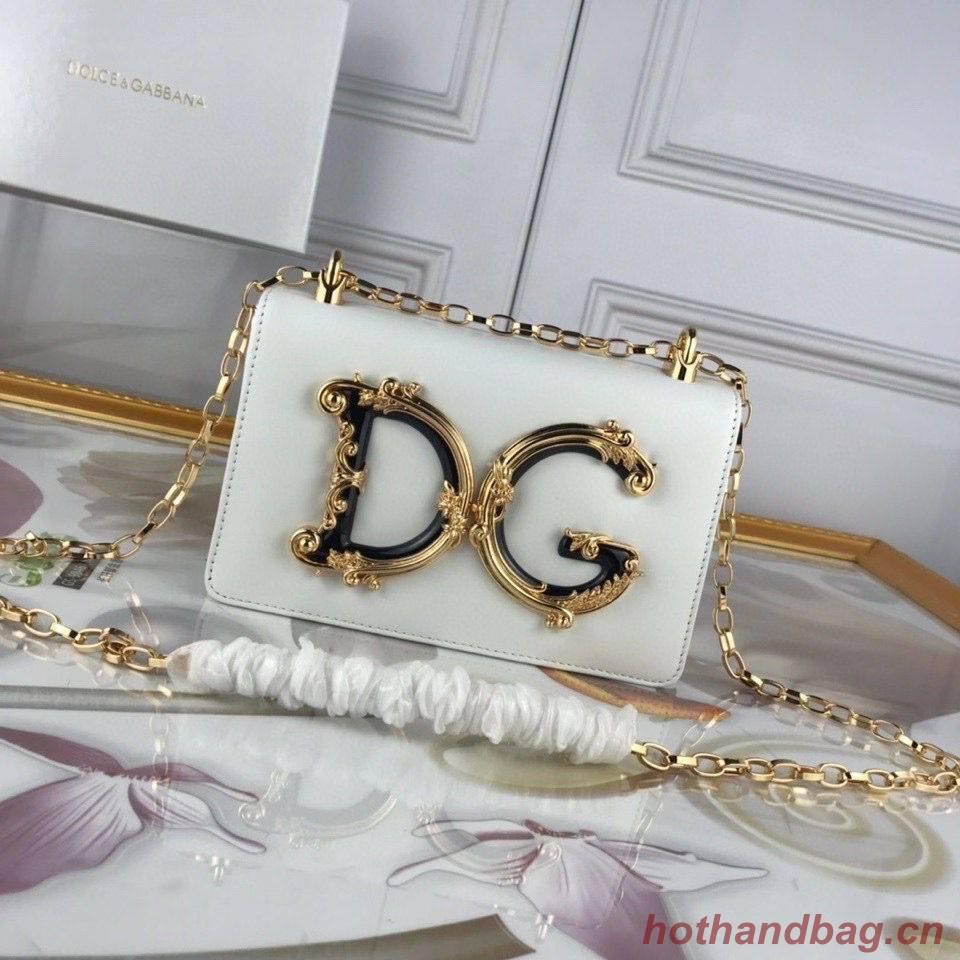 Dolce & Gabbana Original Leather Shoulder Bag BB6315 White