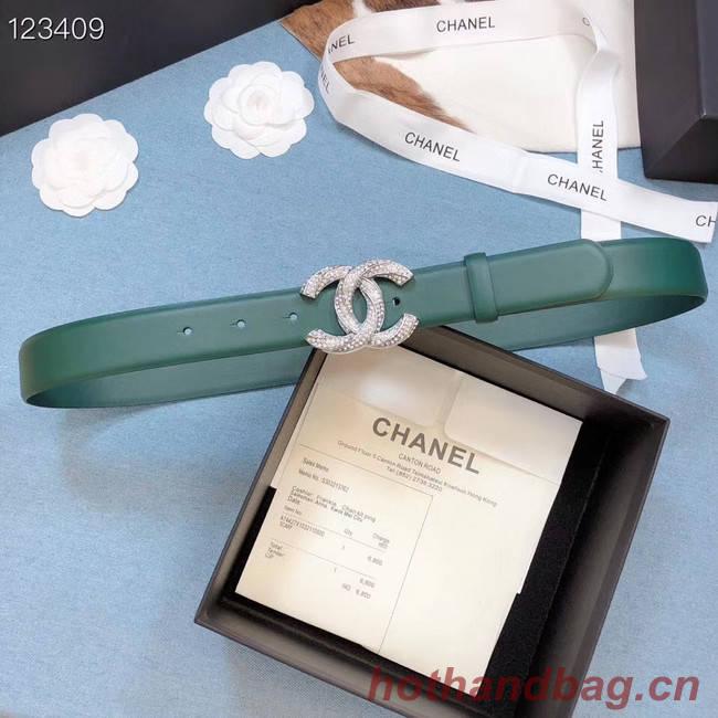 Chanel Original Calf Leather 3602 green&Silver