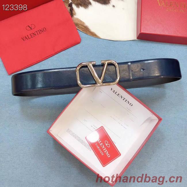 Valentino Original Calf Leather Belt wide 4.0CM 3603 blue