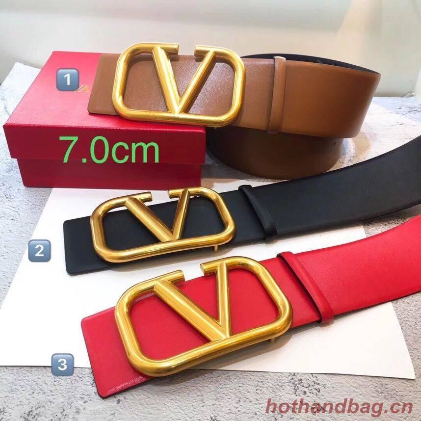 Valentino Original Calf Leather Belt 7.0CM V96783