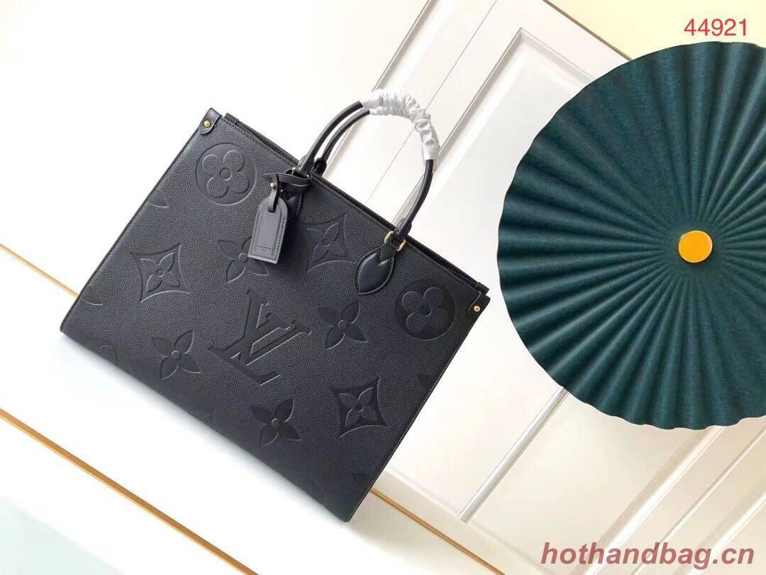 Louis Vuitton ONTHEGO Original Leather Bag M44576 Black