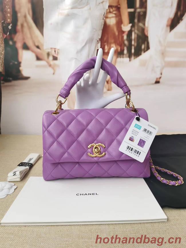 Chanel Original Lather Flap Bag AS2044 Lavender