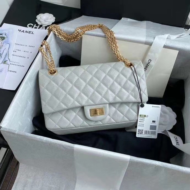 Chanel 2.55 Calfskin Flap Bag A37586 light grey