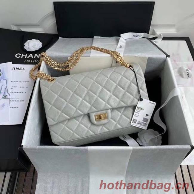 Chanel 2.55 Calfskin Flap Bag A37587 light grey