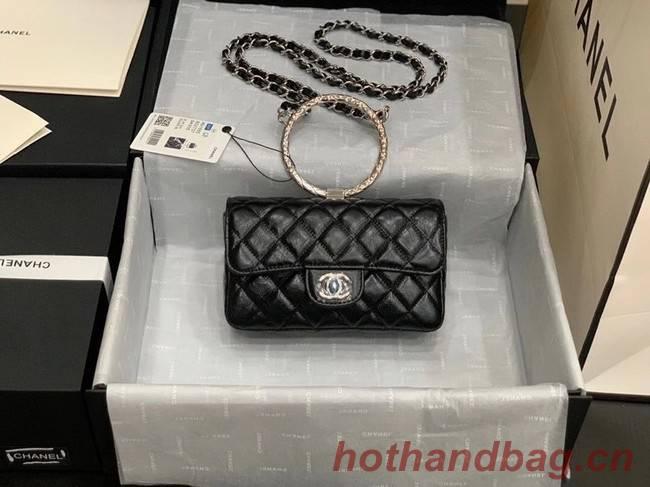 Chanel Flap Original Lambskin Leather Shoulder Bag AS1665 black