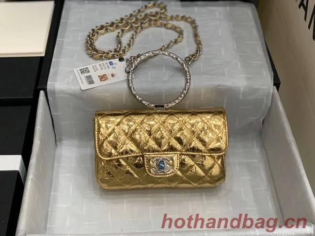 Chanel Flap Original Lambskin Leather Shoulder Bag AS1665 gold