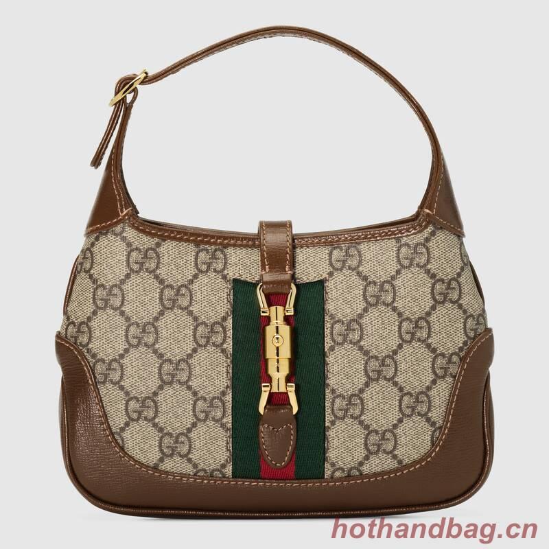 Gucci Jackie 1961 mini hobo bag 637092 brown