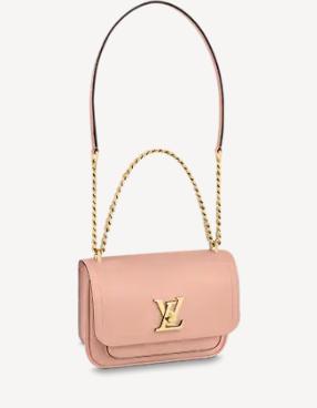 Louis Vuitton Original Lockme chain small handbag M57067 pink