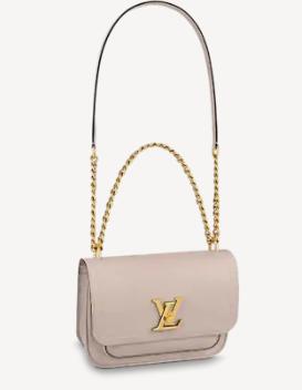 Louis Vuitton Original Lockme chain small handbag M57067 grey