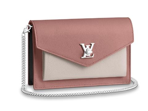 Louis Vuitton Original MYLOCKME Chain Bag M63471 pink&white