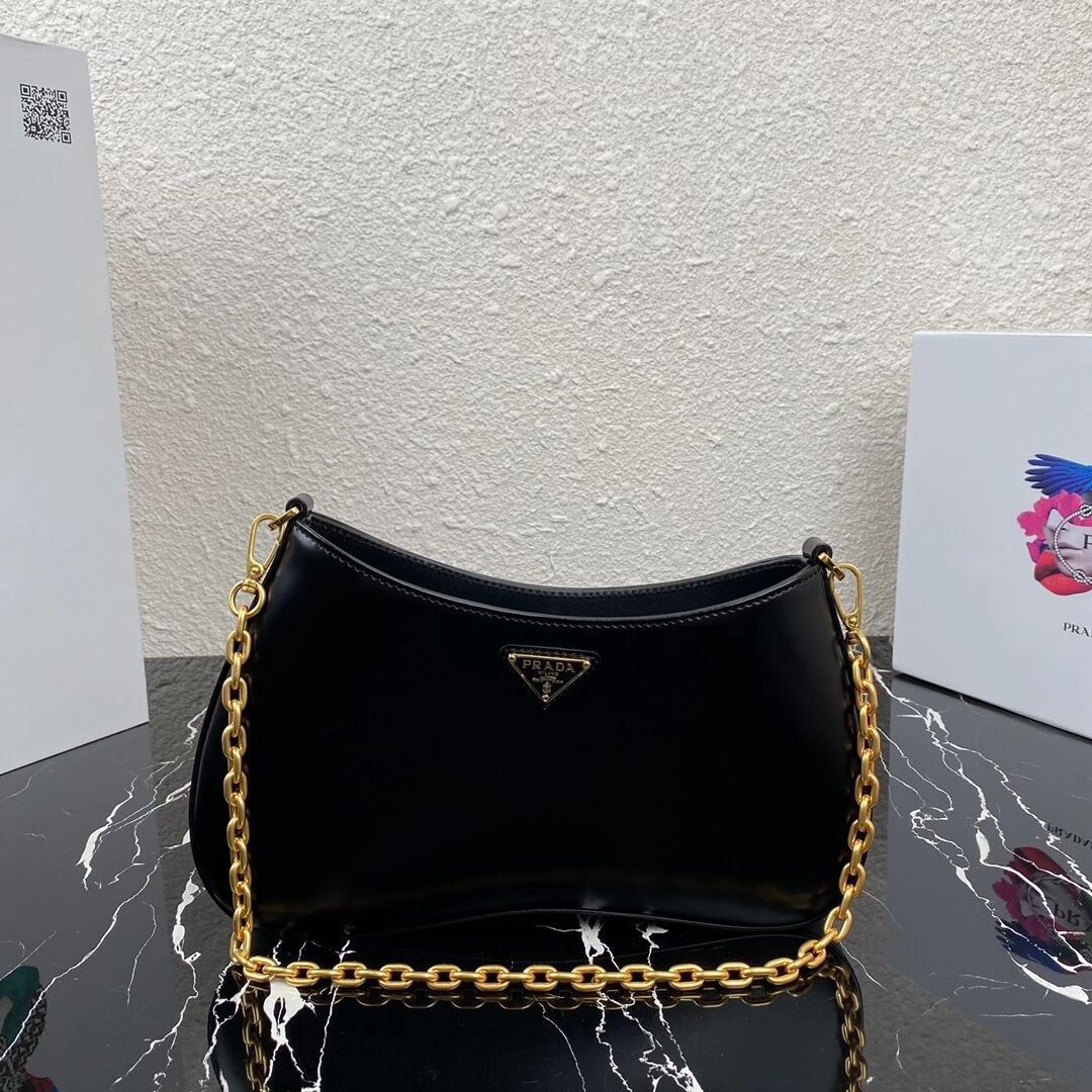 Prada Saffiano leather shoulder bag 2BC148 black