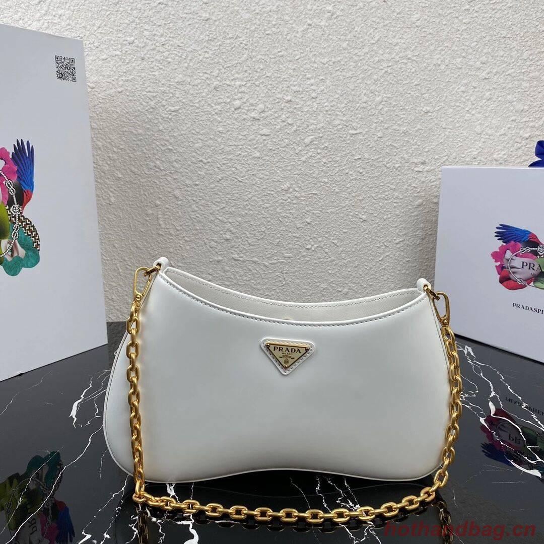 Prada Saffiano leather shoulder bag 2BC148 white