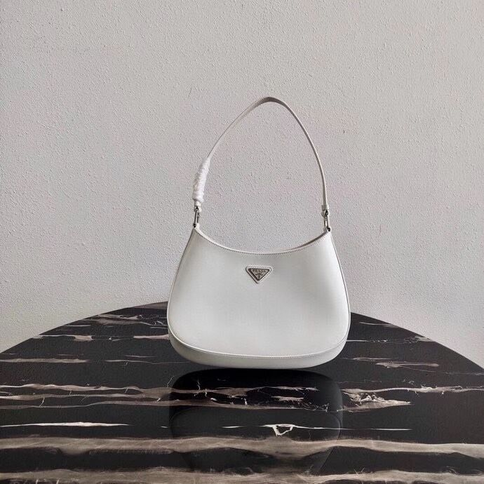 Prada Saffiano leather shoulder bag 2BC499 white
