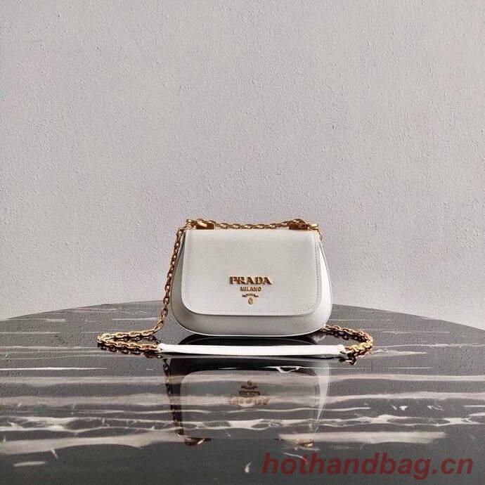 Prada Saffiano leather shoulder bag 2BD275 white
