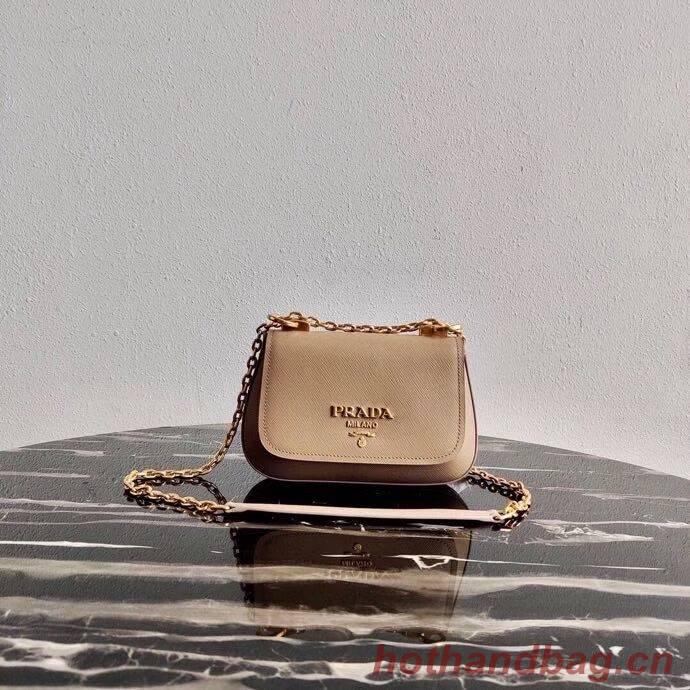 Prada Saffiano leather shoulder bag 2BD275 Biscuits