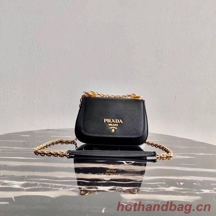 Prada Saffiano leather shoulder bag 2BD275 black