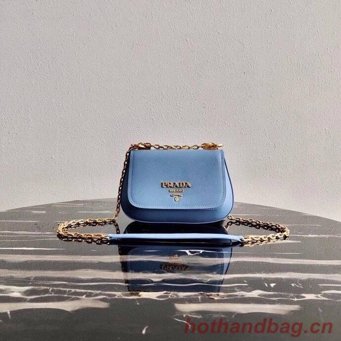 Prada Saffiano leather shoulder bag 2BD275 blue
