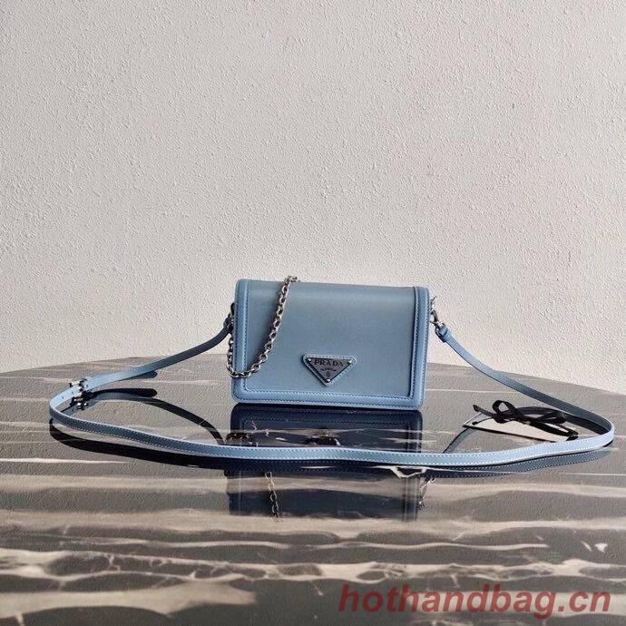 Prada Saffiano leather shoulder bag 2BP019 blue